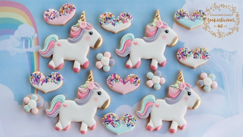 How to make Sparkles the Unicorn Sprinkled Heart Cookies