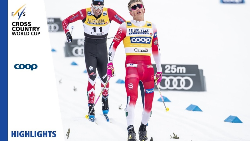 Highlights | Klaebo wins after race drama | Mens Mass Start | Québec | FIS Cross Country