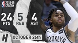 D'Angelo Russell Full Highlights Nets vs Pelicans 2018.10.26 - 24 Pts, 4 Ast, 5 Reb!
