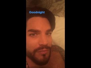 Адам в Инстаграм-сторис