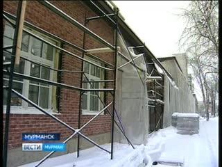 В Мурманске продолжают реконструкцию бывшего Дома офицеров, куда должен переехать областной театр кукол
