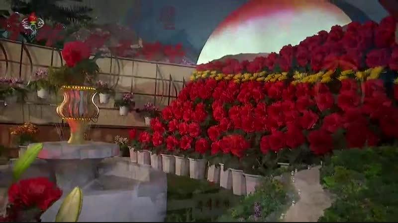 번영하는 내 조국땅에 만발하는 태양의 꽃바다 -제23차 김정일화축전장을 찾아서- (1)