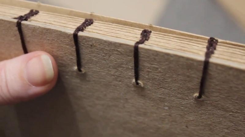 Как сделать блокнот с открытым переплетом / How to make notebook with open binding