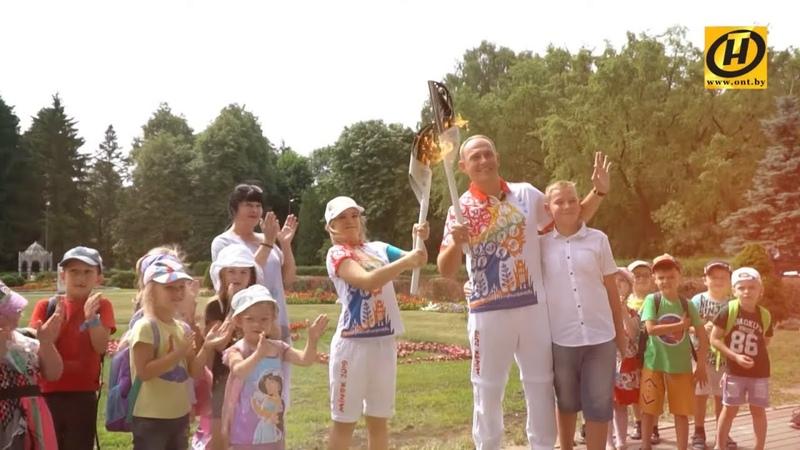 Праздник начался Вот так Беларусь зажгла Пламя мира прямо в спортивном сердце страны