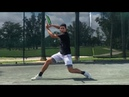 Tennis training Clay court sliding drills with Coach Brian Dabul