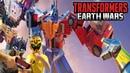 Трансформеры Earth Wars Оптимус Прайм Строим базу и первые сражения Игра о трансформерах динозавр