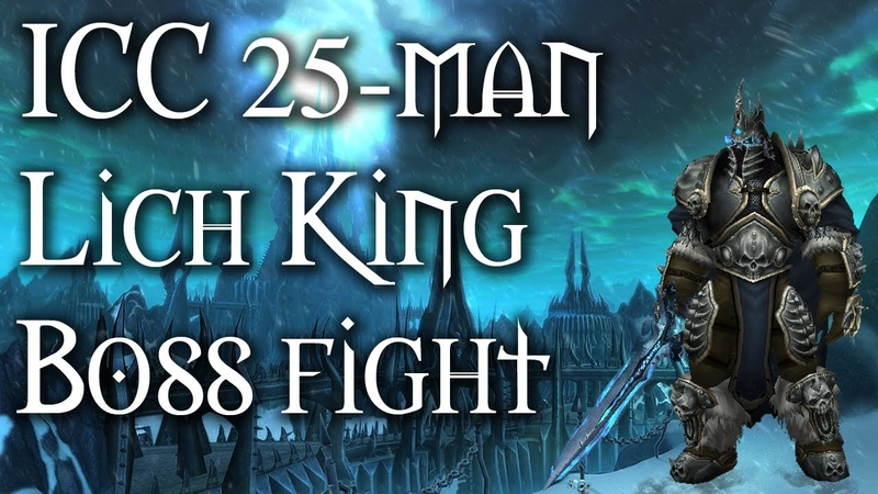 World of Warcraft - Icecrown Citadel 25 man Normal Raid - The Lich King boss fight