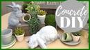 DIY CONCRETE HOME DECOR HOW TO AGE TERRA COTTA POTS Spring Farmhouse Decor