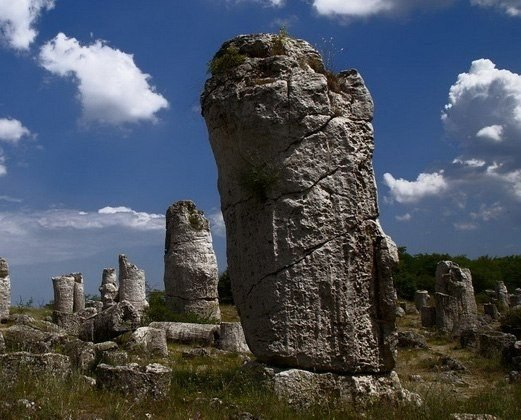Каменный лес «Каменный лес» («каменный сад») или «Побити камъни», переводимое чаще всего, как «вбитые камни» название пустынной местности в Болгарии, испещренной отростками камней до 10 м