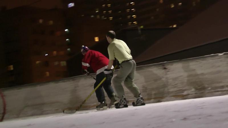 Хоккейные баталии на Купчинской ул. Питера. Эффект присутствия. 1080p 60fps
