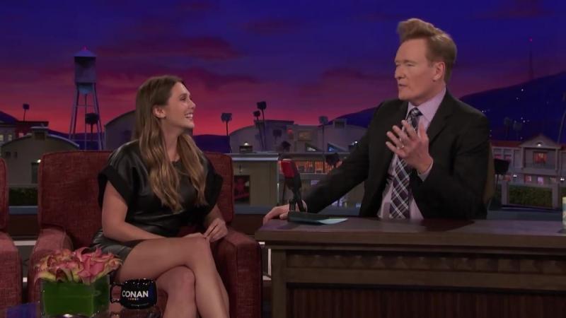 Conan OBrien Presents- Team Coco - Elizabeth Olsen Teaches Conan Russian Curse Words - Facebook