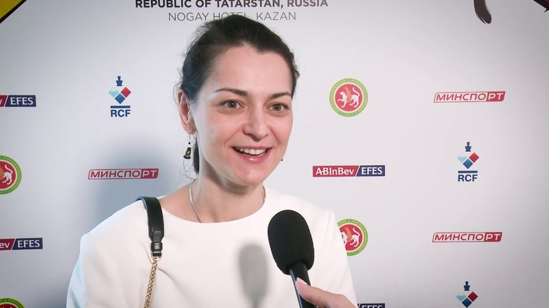 2019 Women's Candidates. Round 14. Interview with Alexandra Kosteniuk.