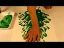 Bricolage Noel: Sapin avec peinture à doigt