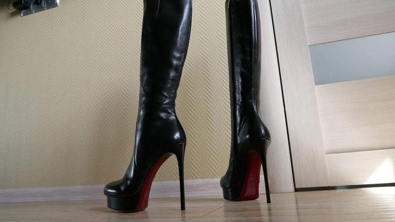 Platform high heels Gianmarco Lorenzi leather boots Size EU 39 US 8,5