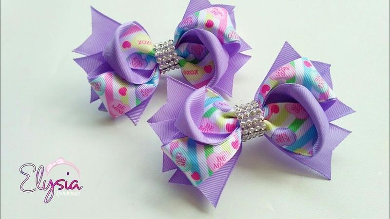 Laço Chamego Fita N5 🎀 Ribbon Bow Tutorial 🎀 DIY by Elysia Handmade