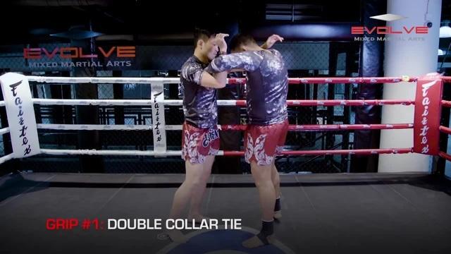 Тайский Бокс Двойной захват за шею в клинче (grip).