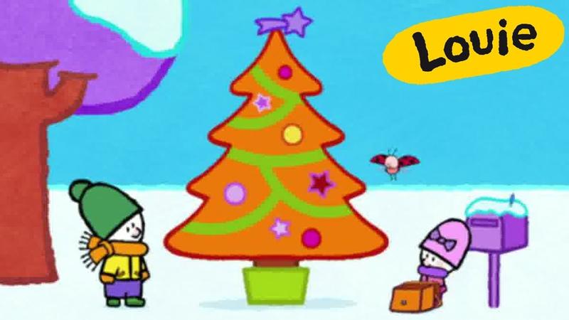 Louie, draw me a Christmas Tree | Learn to draw cartoon for kids