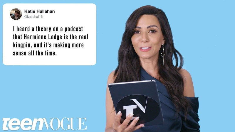 Riverdale's Marisol Nichols Discovers Riverdale Fan Theories | Teen Vogue
