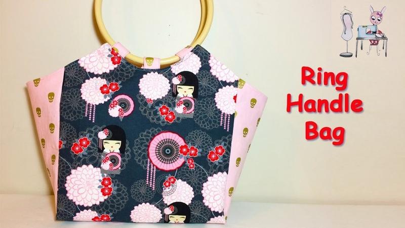 DIY Ring Handle Bag Coudre un sac 가방 バッグ Bolsa de bricolaje Sewing Tutorial