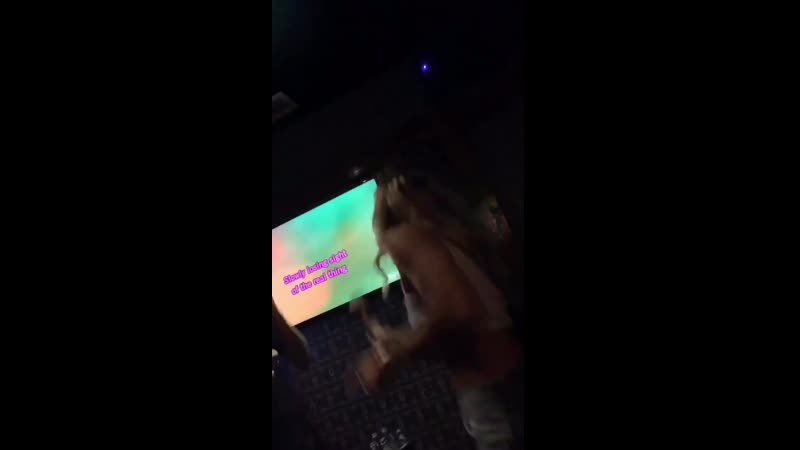 Miley singing karaoke with friends to Islands In The Stream by the Bee Gees.mp4