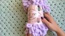 самый подробный мк по вязанию плюшевого пледа, вяжем плюшевый плед руками, плед из пуффи, плетенка