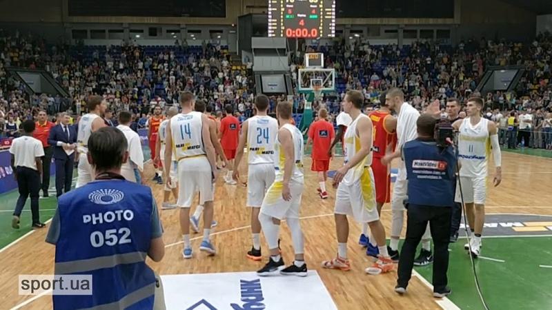 Вболівальники душевно виконали Гімн України після перемоги Україна 76:65 Испания Гімн Україна перемога Basketball Баскетбол Спорт_UA