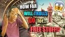 HOW FAR WILL YOUTUBE TROLLS GO FOR FREE STUFF!! PART 1