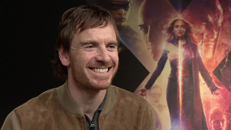 X-MEN : DARK PHOENIX Movie Michael Fassbender - full interview - spricht deutsch / speaks german