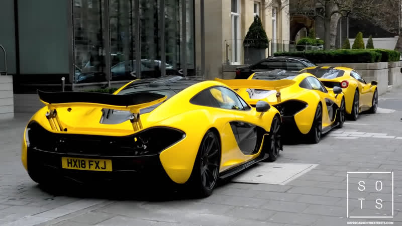 Guy brings out BOTH his $1.5Million Mclaren P1 into central London!