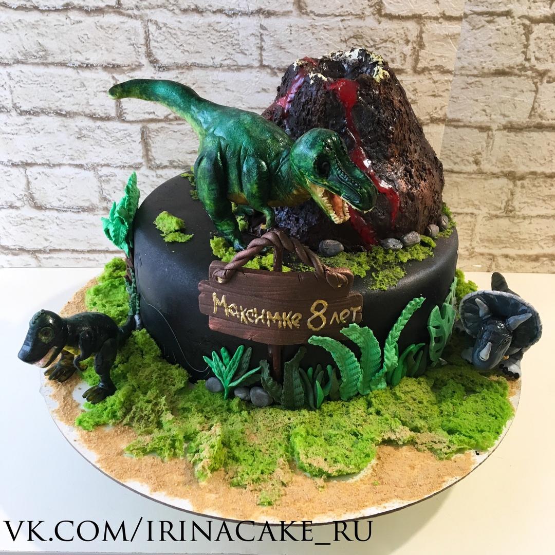 Торт с динозаврами (Арт.455)