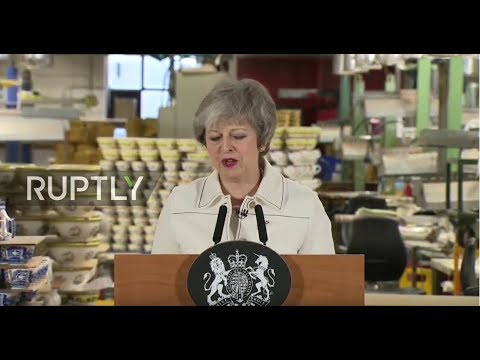 LIVE Theresa May delivers key Brexit speech at Stoke on Trent factory