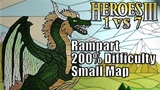 ENG Heroes III, 1vs7 (Teamed), Small Map, Difficulty 200, Rampart