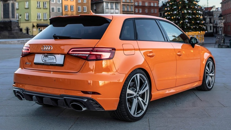2018 EXCLUSIVE 400hp 5cyl AUDI RS3 SPORTBACK Crazy color on the pocket rocket In details