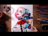 Suicide Squad - Harley Quinn (Margot Robbie) - Speed drawing