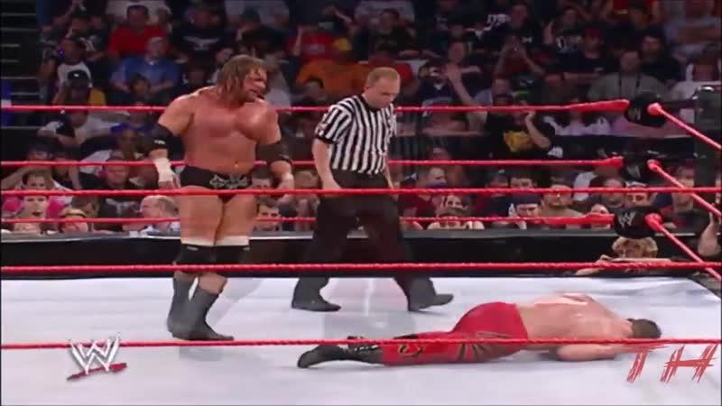 Triple H vs Chris Benoit Highlights HD Raw 26 07 2004