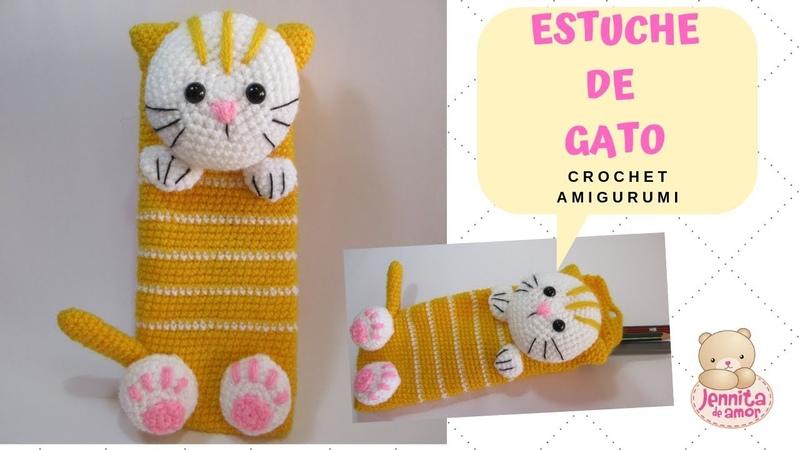 ESTUCHE GATO Crochet Amigurumi Tutorial