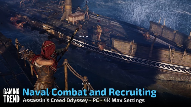 Assassin's Creed Odyssey - Naval Combat and Recruiting - PC 4K - [Gaming Trend]