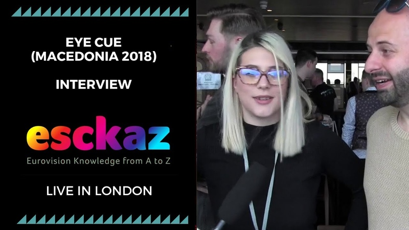ESCKAZ in London Interview with Eye Cue Macedonia at the Eurovision 2018