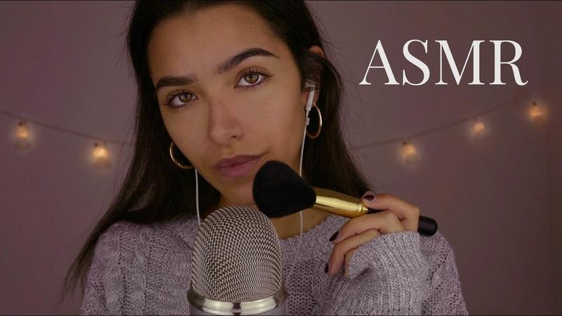 ASMR Let Me Make You Sleepy! Mic Brushing Soft Singing (Low Light)