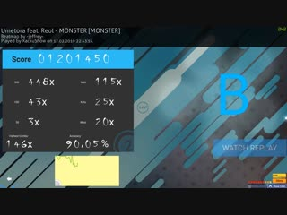 6.05* 90.05% Umetora feat. Reol - Monster [MONSTER]