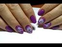 Простой рисунок на ногтях гель лаками База для растекания Azure Цветочный дизайн ногтей