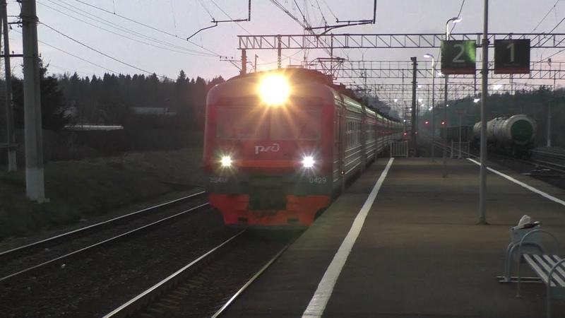 Электропоезд ЭД4М-0429 станция Петелино
