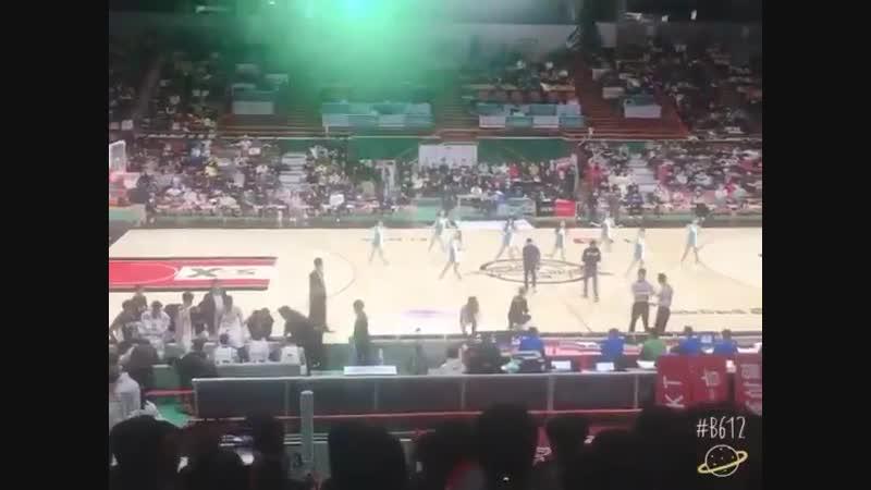 셋 셀테니(1, 2, 3!) was played at professional basketball team Busan KT Sonicboom