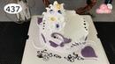 Chocolate cake decorating bettercreme vanilla (437) Học Làm Bánh Kem Đơn Giản Đẹp -Tím Tím (437)