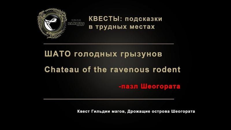 The Elder Scrolls Online Сhateau of the ravenous rodent Шато голодных грызунов пазл