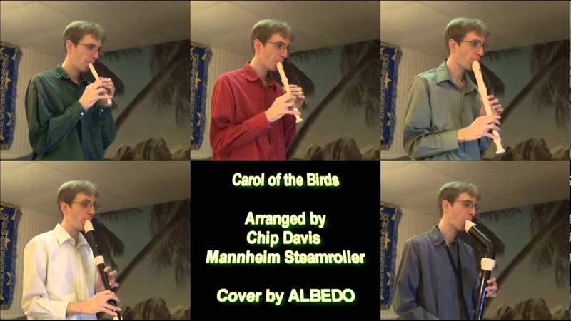 Carol of the Birds, Mannheim Steamroller Christmas- Cover by ALBEDO (Recorder Quintet)