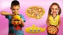 Toys Unboxing / Nikita and Nikol open toys submarine and pizza