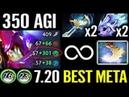 CANCER MONSTER [Slark] 350 Agi Crazy Game MAX Speed MODE Epic Pro Dota 2 Gameplay