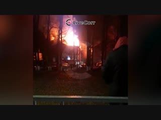 Пожар на Ростовском шоссе в Краснодаре