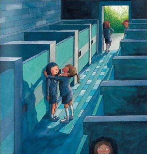 Иллюстрация на тему школьной травли и её настоящих причин